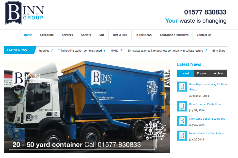 Binn Website