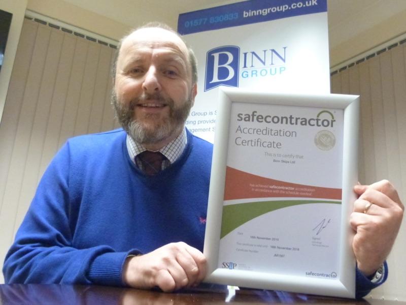 Safecontractor Award for Binn