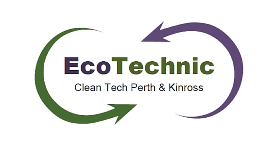 EcoTechnic logo with green and purple font