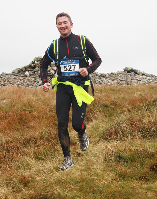 Iain runs down hill