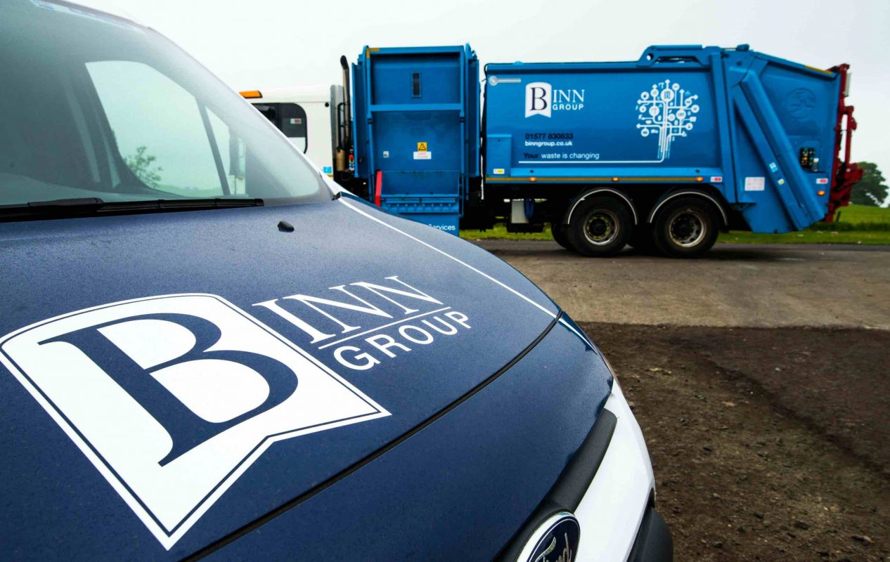 Binn Group truck and van with company branding