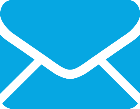 Binn Group email icon in light blue colour