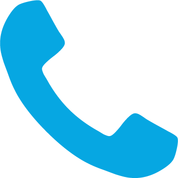 Binn Group telephone icon in light blue