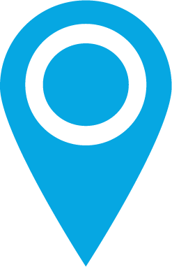 Binn Group map marker in light blue
