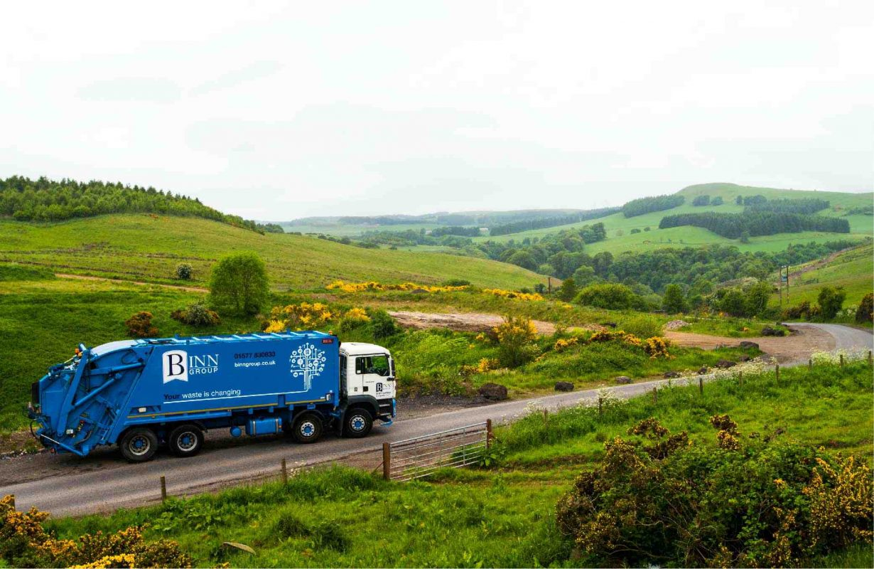 Binn Group truck on the road
