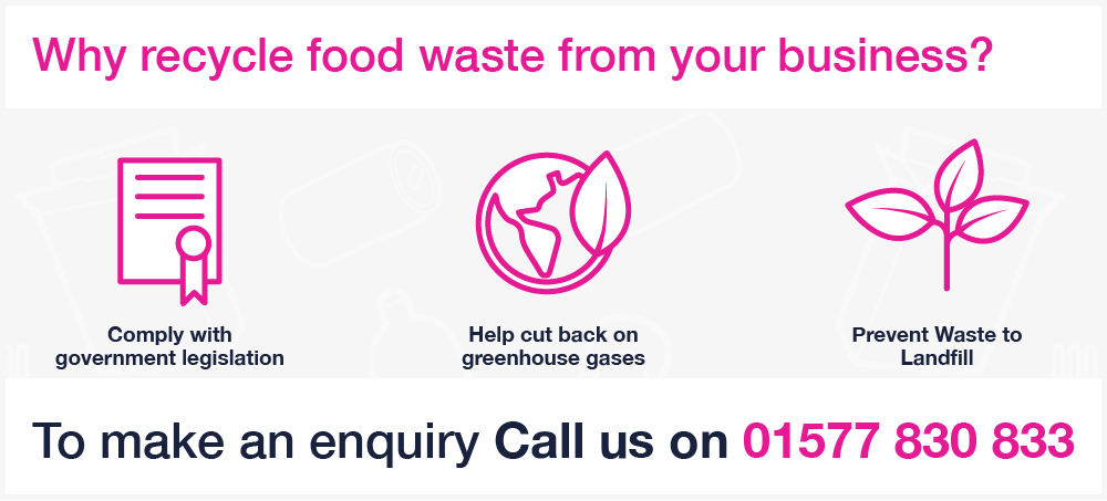 Binn Group food sector graphic with pink image outlines on a white background