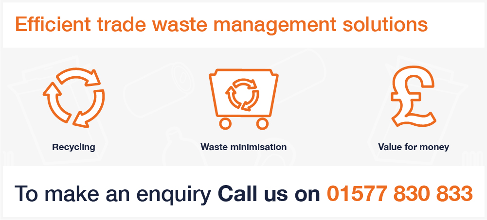 Binn Group trade sector graphic with orange image outlines on a white background