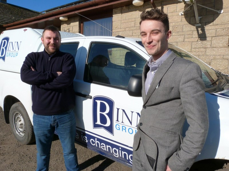 Kris Greig (left) and Danny McAtear head up Binn Group's new in-house SHE and HR departments.
