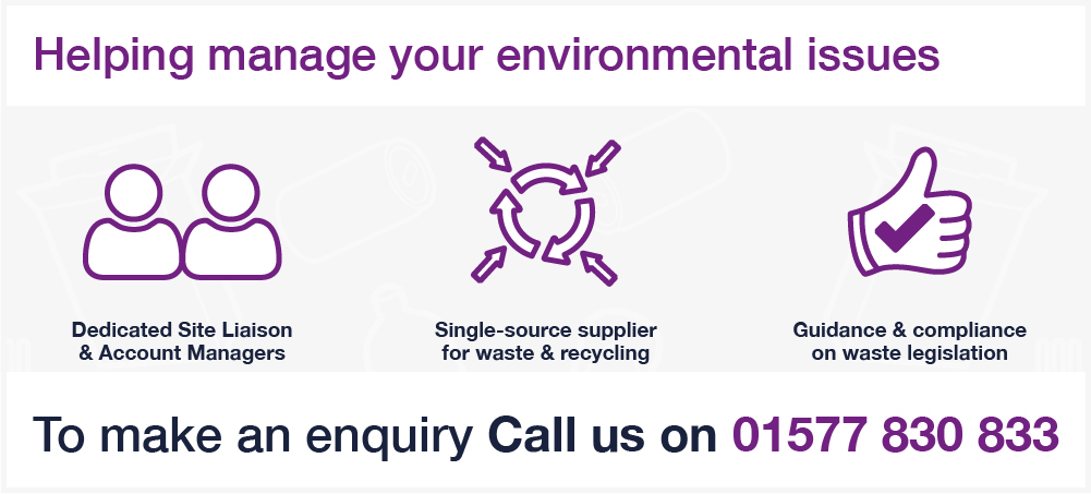 Binn Group industrial sector graphic with purple image outlines on a white background