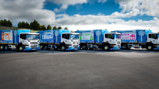 Image showing four new trade waste vehicles